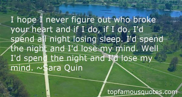 Quotes About Losing Sleep