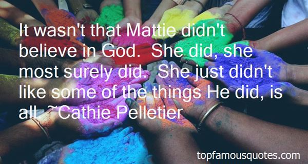 Quotes About Mattie From The Bean Trees