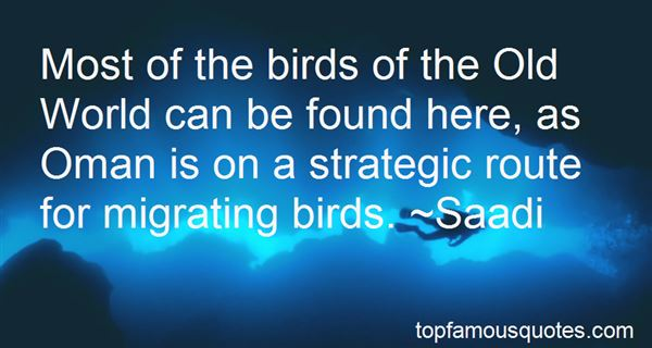 Quotes About Migrating Birds