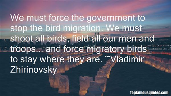 Quotes About Migratory Birds