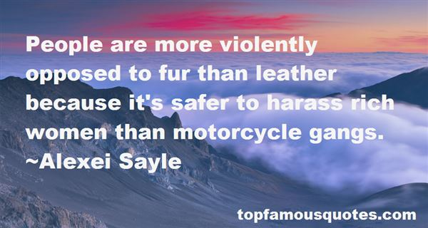 Quotes About Motorcycle Gangs