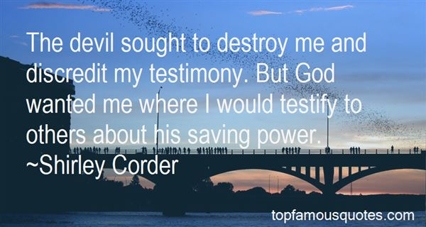 Quotes About My Testimony