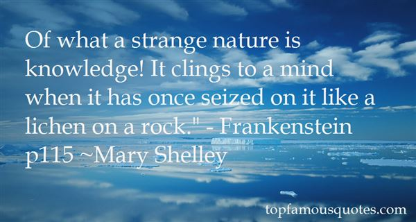 Quotes About Nature From Frankenstein