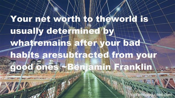 Quotes About Net Worth