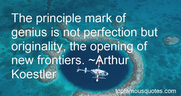 Quotes About New Frontiers