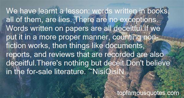 Quotes About Non Fiction Literature