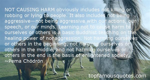 Quotes About Not Harming Others