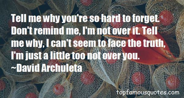Quotes About Not Over You