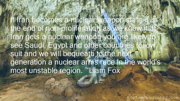 Quotes About Nuclear Arms Race