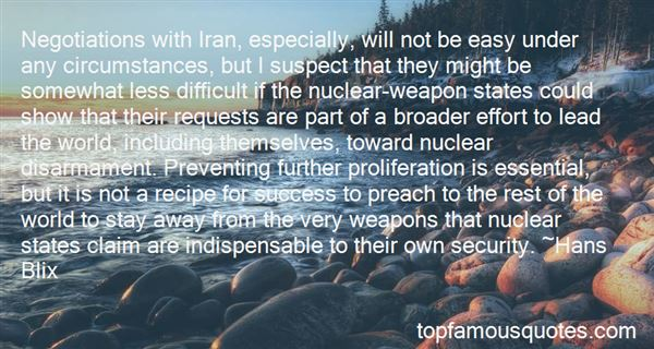 Quotes About Nuclear Disarmament