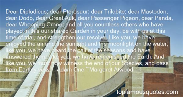 Quotes About Passenger Pigeon