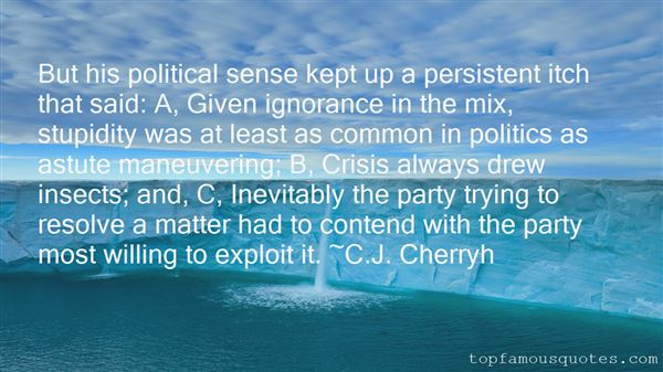 Quotes About Political Stupidity