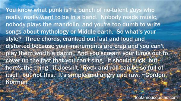 Quotes About Punk Guys
