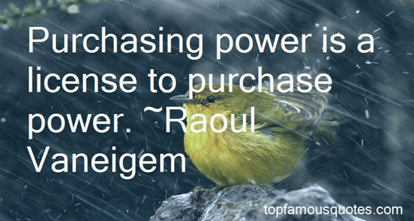 Quotes About Purchase Power