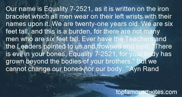 Quotes About Quotes From Anthem About Equality