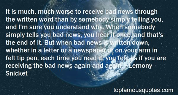 Quotes About Receiving Bad News