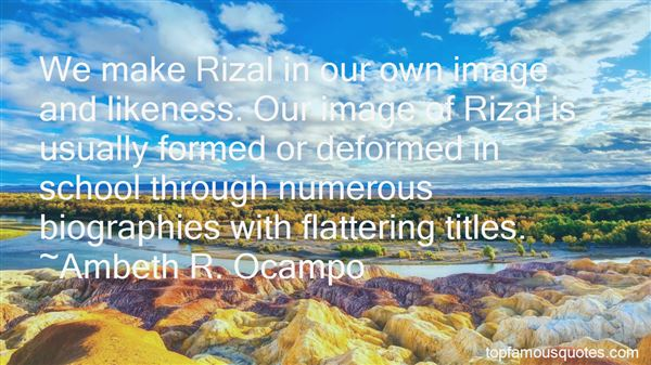 Quotes About Rizal Nationalism