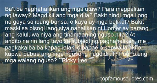 Quotes About Sa Mga Lalaki