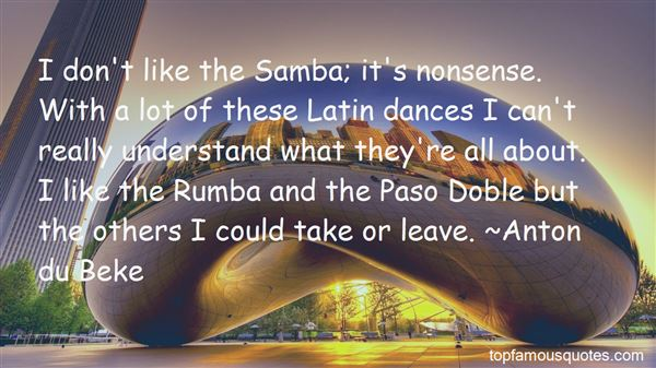 Quotes About Samba