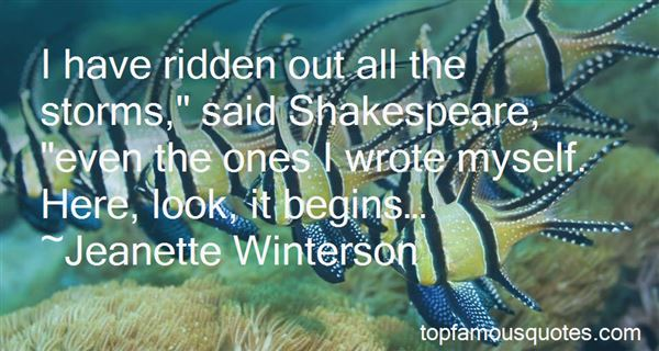 Quotes About Storms Shakespeare