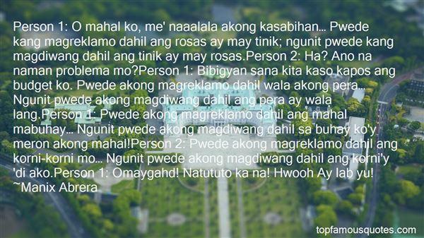 Quotes About Tagalog Mukhang Pera