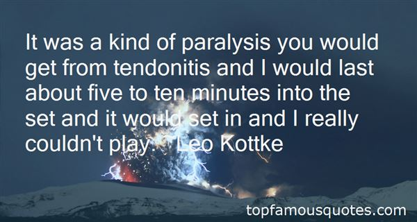 Quotes About Tendonitis