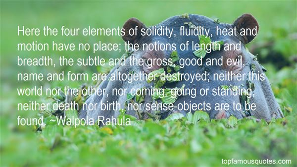 Quotes About The Four Elements