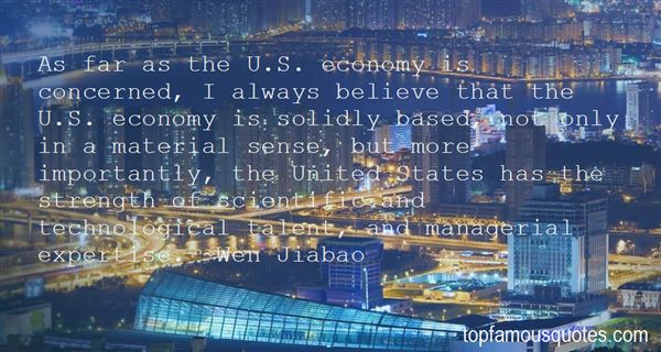 Quotes About The United States Economy