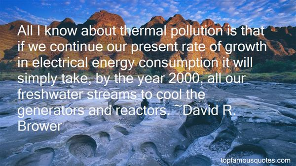 Quotes About Thermal Pollution