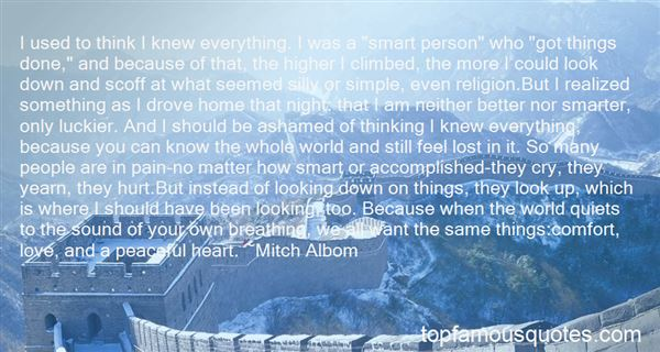 Quotes About Thinking Youre Smart
