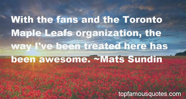Quotes About Toronto Maple Leafs Fans