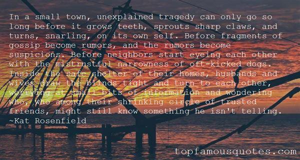 Quotes About Unexplained Events