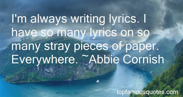 Quotes About Writing Lyrics